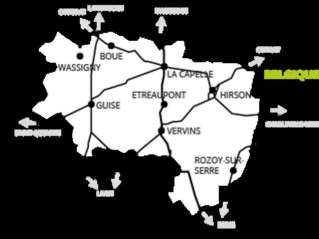 Carte de Thiérache