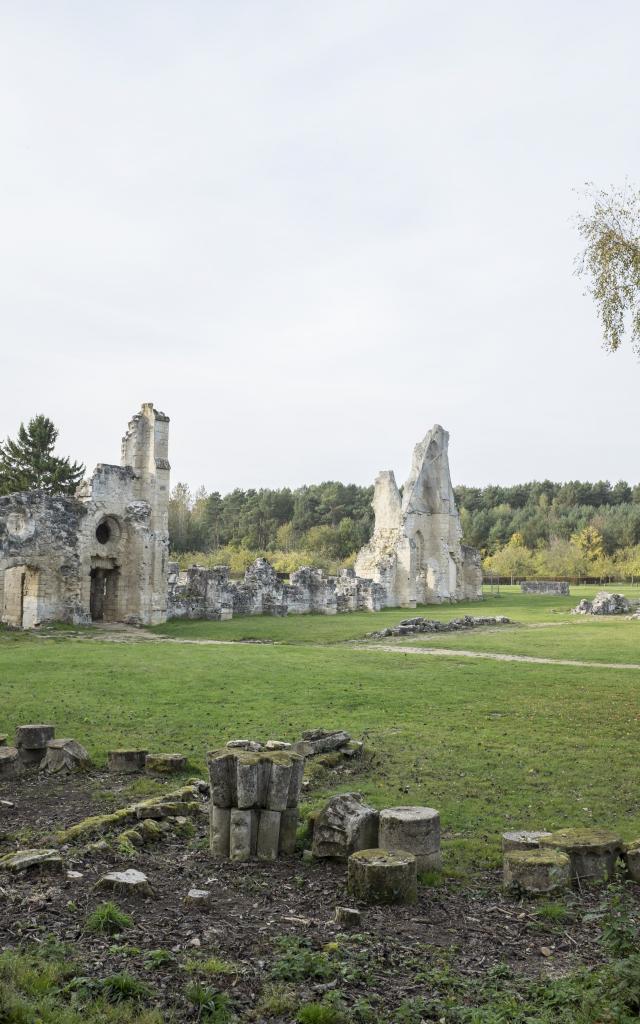 Les Ruines De L'abbaye De Vauclair Min